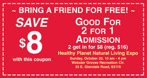 Health Planet Expo 2 for 1 Coupon