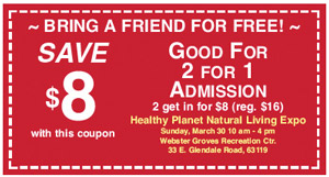 2014 Expo 2 for 1 Coupon